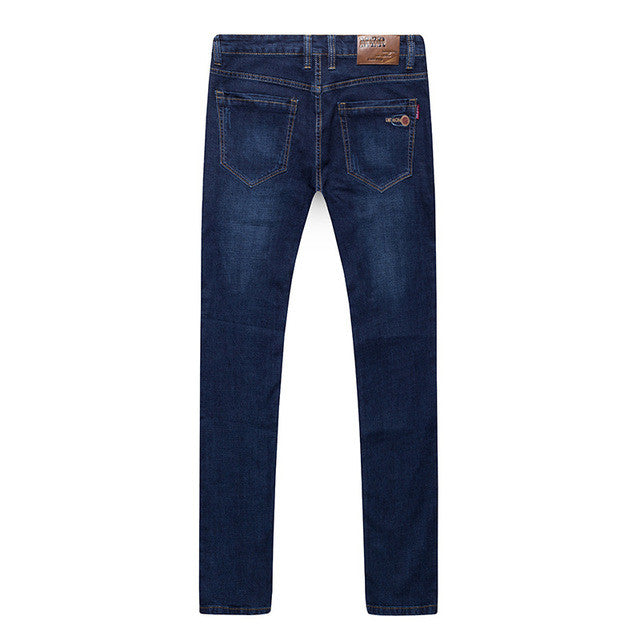 2017 Hot Sale Big Size 44 46 48 Classic Jeans Male Elastic Blue Work