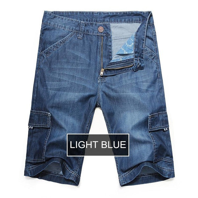 2017 New Brand Short Jeans Men Summer Cotton  Loose Jeans Shorts
