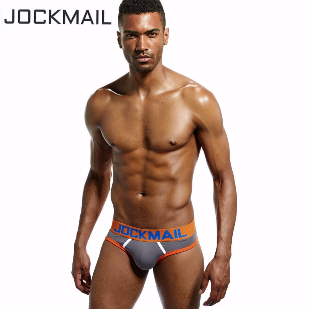 JOCKMAIL Brand Men Underwear Briefs open back Sexy Men Jockstraps