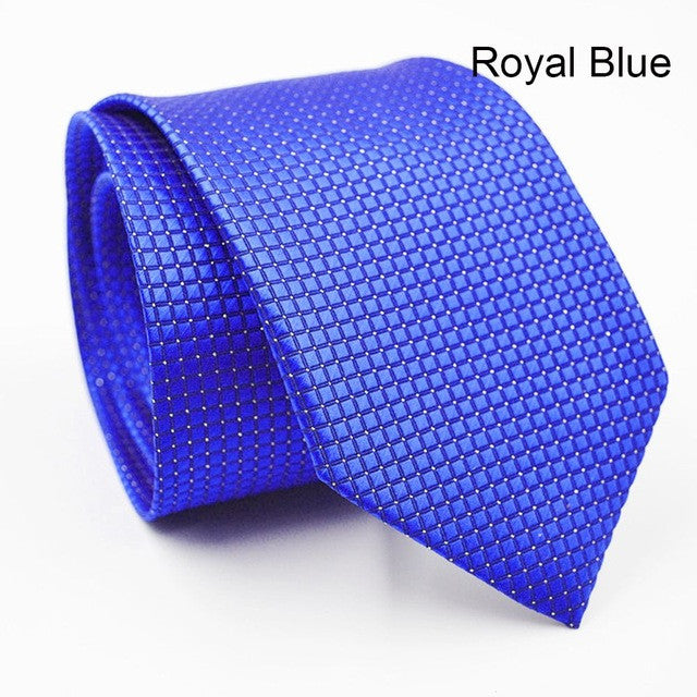 1 pc Fashion Luxury Design Checks Jacquard Woven Silk Classic Men's