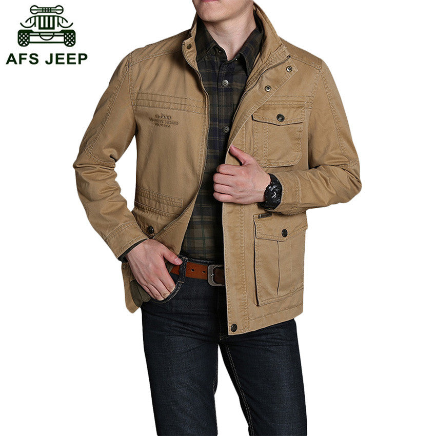 2017 Free Shipping Autunm Outwear Jacket Coat AFS JEEP Brand Men