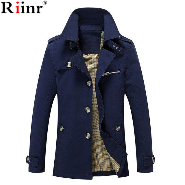 Riinr Brand Clothing 2017 Winter New Jakets For Men And Parks Stand-up