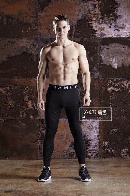 Mens Quick Dry Compression Tight Pants Tights Skinny Leggings Bottom