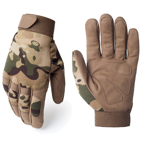 Breathable Lightweight General Multicam Camouflage Tactical Army Military Work Bicycle Airsoft Shooting Gear Full Finger Gloves