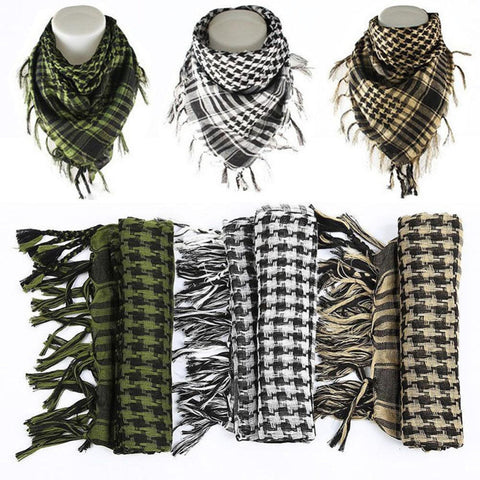 2017 Hot Sale 100% Cotton Thick Arab Scarves Muslim Hijab Shemagh Tactical Desert Men Winter Military Windproof Scarf