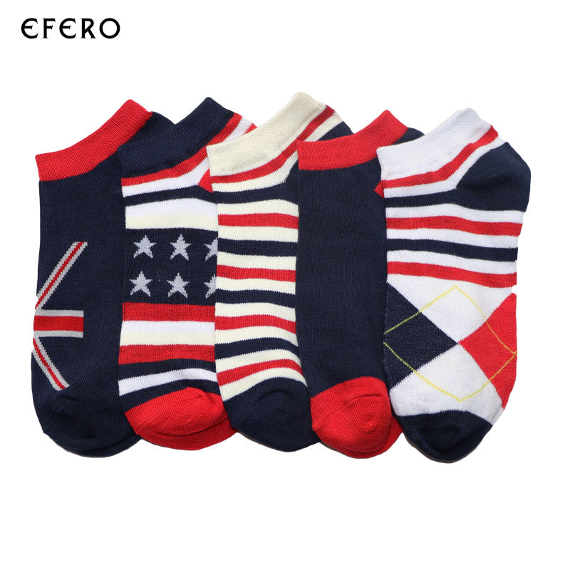 1pair Fashion Summer Men Ankle Socks Breathable Low Cut Crew Knitted