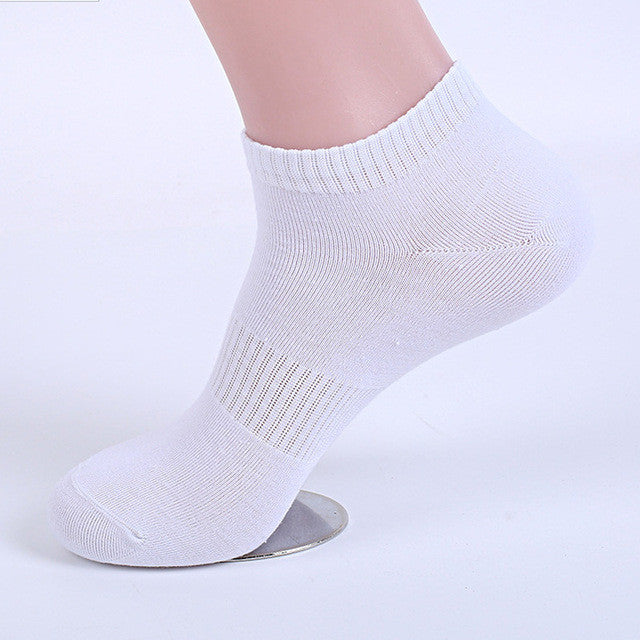 10Pcs=5Pair Men's Cotton Socks Invisible Ankle Socks Male Summer
