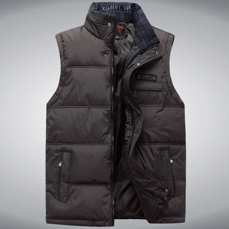 2017 Brand Men's Vest Jacket Coat Sleeveless Vests Homme Winter Casual