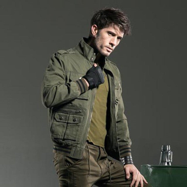2016 New Fashion Autumn Male Jackets Brand Army Green Military Men