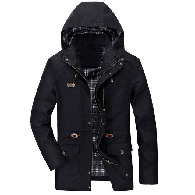 2017 4 Colors New Arrival Cotton Casual Hooded Spring Men Jackets Hood