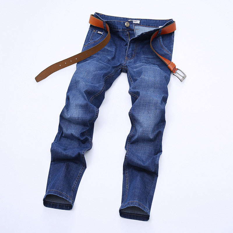 2017  Brand Mens Jeans Autumn Winter Mens Jeans Blue Denim Jean