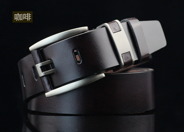 110 cm female casual Men's belt leather metal Knife belt for men