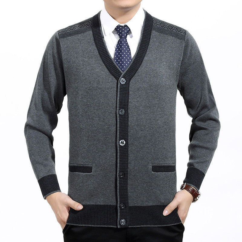2016 Autumn Winter Men Casual Thick Sweaters Cardigan Male Single