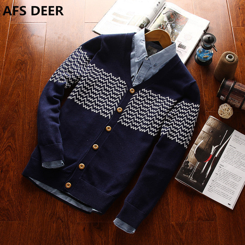 2016 fashion autumn Mens sweaters male V neck winter Cardigan men