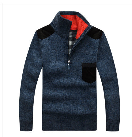 2016 new spring High quality wool men's sweater men half  turtle