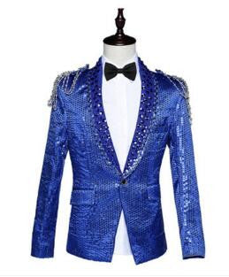 2016 blazer jacket prom wedding male costume nightclub bar slim