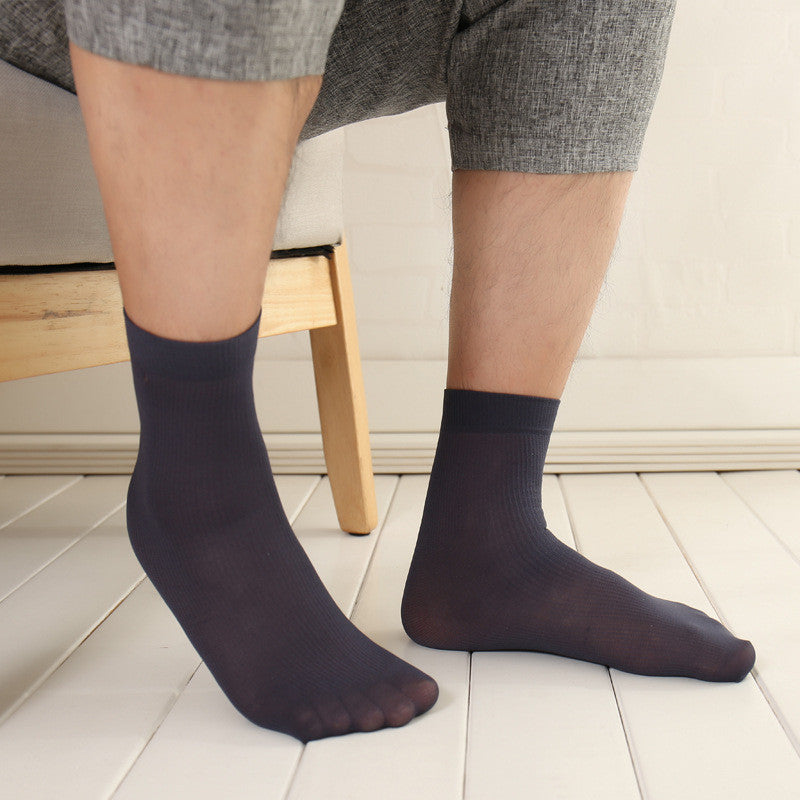 20 Pairs/Lot High Quality Brand Men Business Casual  Silk Socks Spring