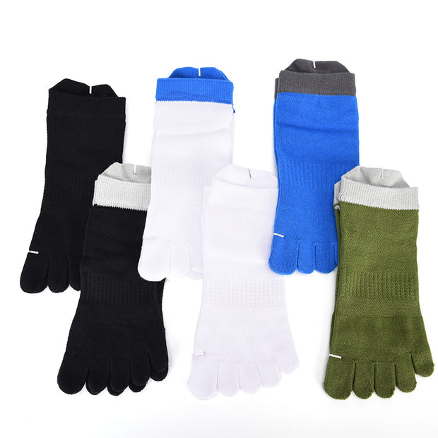 1 Pair/Lot Cotton Men's Socks Meias Five Finger Socks Toe Socks For EU
