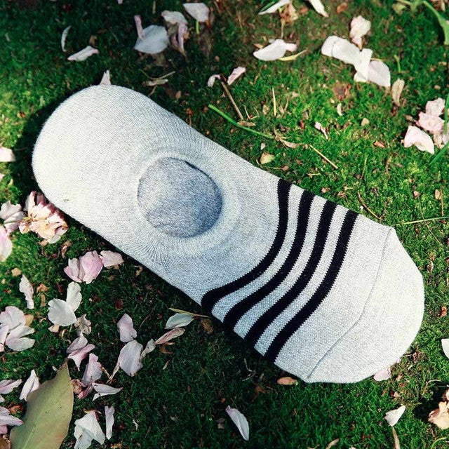 2017 5Pairs/Lot Fashion Casual Men Socks stripe  Banboo & Cotton Socks