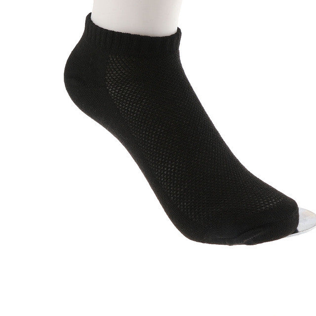 10 Pairs Men's Casual Cotton Formal Cut Crew Short Ankle Socks