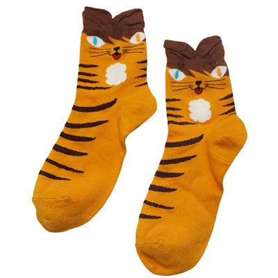 1Pair Cute Cartoon Funny Socks Mens Novelty Socks Art Calcetines Meias
