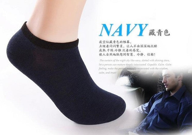 12pairs spring summer men's bamboo fibre invisible boat socks ankle
