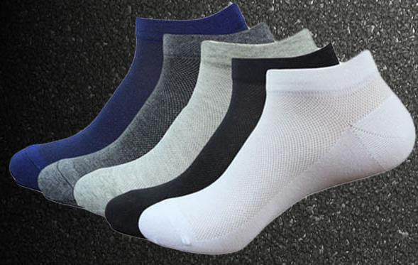 10pair Solid Color 3d Men Socks Invisible Men's cotton Ankle Socks