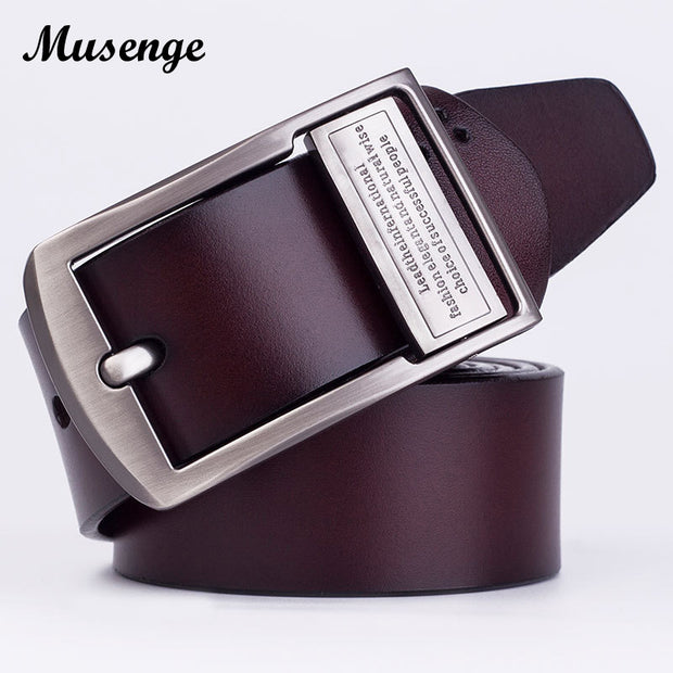 MUSENGE Leather Belt Men Jeans Cinturon Hombre Cinto Masculino