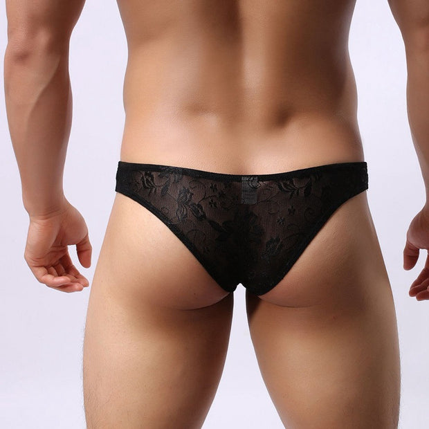 Sexy Men Underwear Lace Men Briefs U Convex Pouch Gay Men Underwear