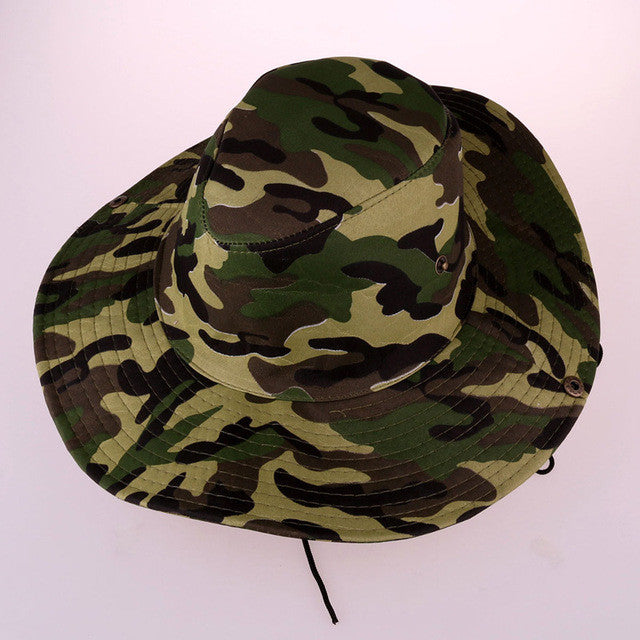 1e70d908562 Two Designs Size 58cm Fishing Camping Hunting Army Camo Bucket Hats ...