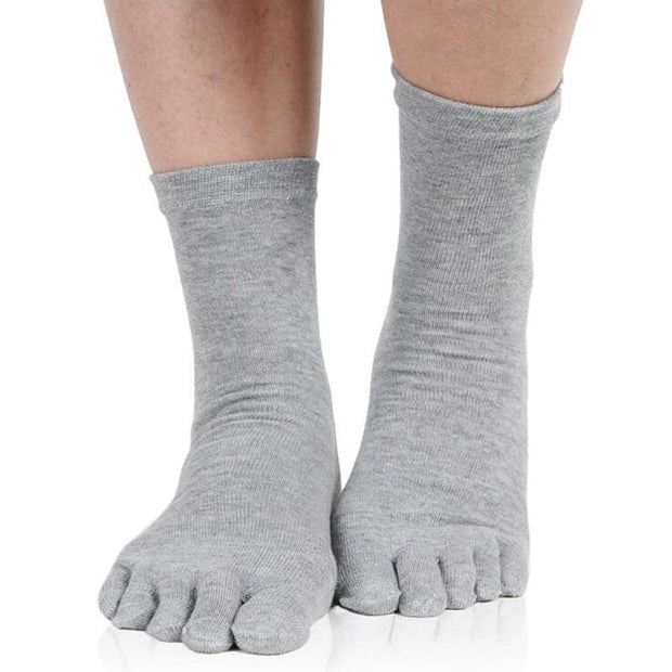 1 Pair Unisex Comfortable Men Women's Socks Five Finger Pure Cotton