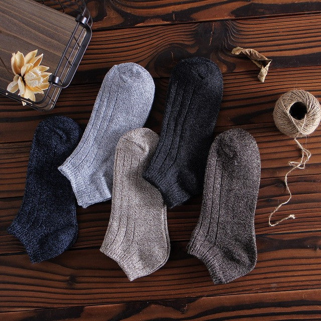 10 pieces = 5 pairs ankle socks men thick socks thin high quality