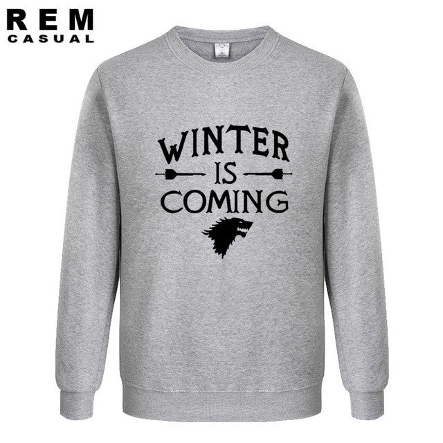 2016 Men  Printed Winter Is Coming God of love gift  Casual fashion