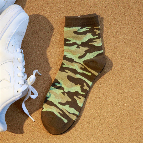2016 New Fashion Men Socks camouflage Color Style Cotton Socks
