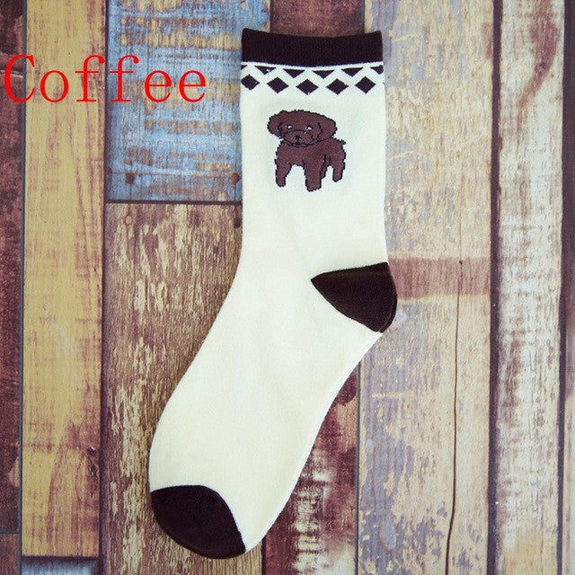 1 Pair Women Men Unisex Cotton Winter Warmer Casual Socks Cute Dog