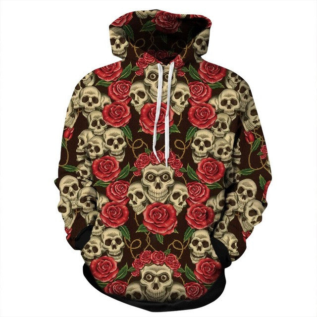 2016 Hot Sale 3D Halloween series Skull/Skeleton Printed Hoodies