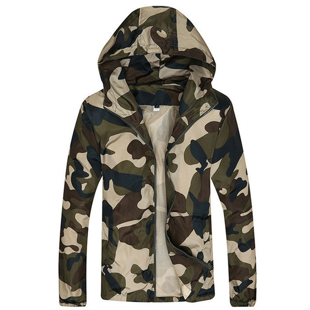 2016 Spring Autumn Man Casual Hooded Jacket Male Fashion Camouflage
