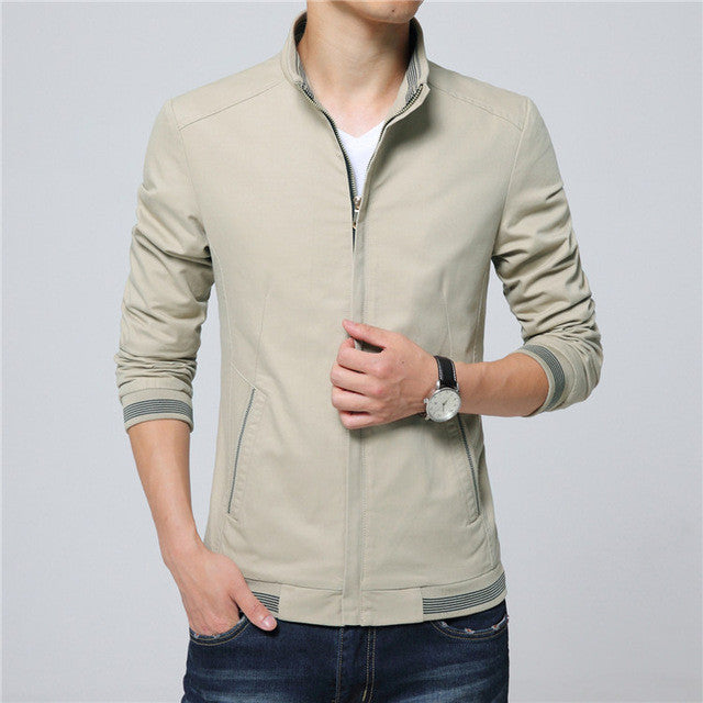 2016 Men's New Casual Pure Color Jacket High Quality Spring Regular