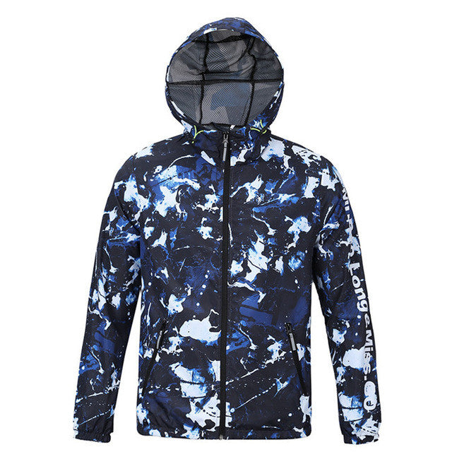 2016 Spring Autumn New Arrival Male Casual Windbreaker Men Hooded