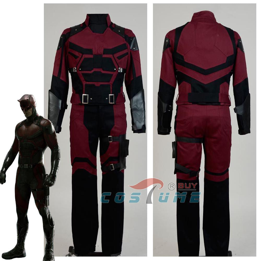 2015 Hot TV Show Daredevil Cosplay Costume Outfits Adult Superhero