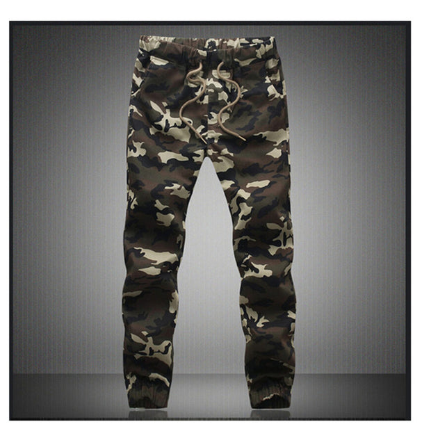 M-5X 2017 Mens Jogger Autumn Pencil Harem Pants Men Camouflage