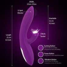 The Queen's Royal Clitoris Suction and G-spot vibrator-  Multiple orgasm guaranteed