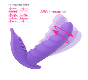 Lady Margarita 360 degrees rotating G-spot stimulator and Clit brush