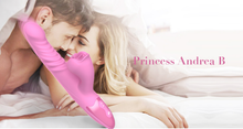 Princess Andrea B' power  thrusting machine with multiple clit brush and Smart Heating