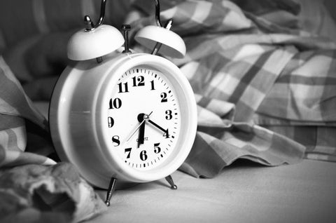 alarm clock black and white