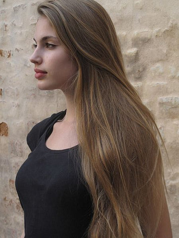 beautiful woman with long healthy hair