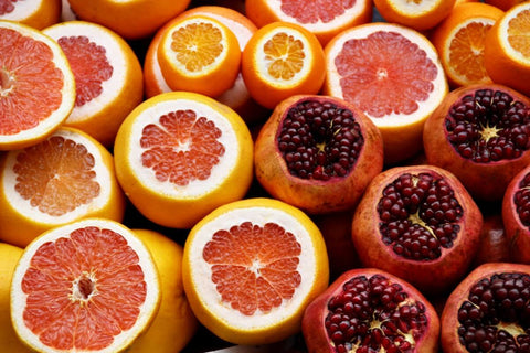 citrus fruits and pomegranate antioxidants