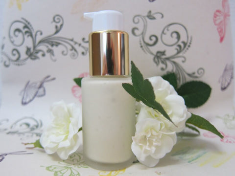 natural organic beauty product with white rose