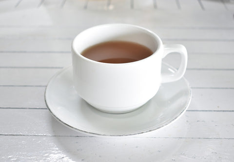 tea in white tea cup