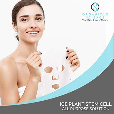 Ice Plant Stem Cell Facial Sheet Masks 3-Boxes - Organique Science